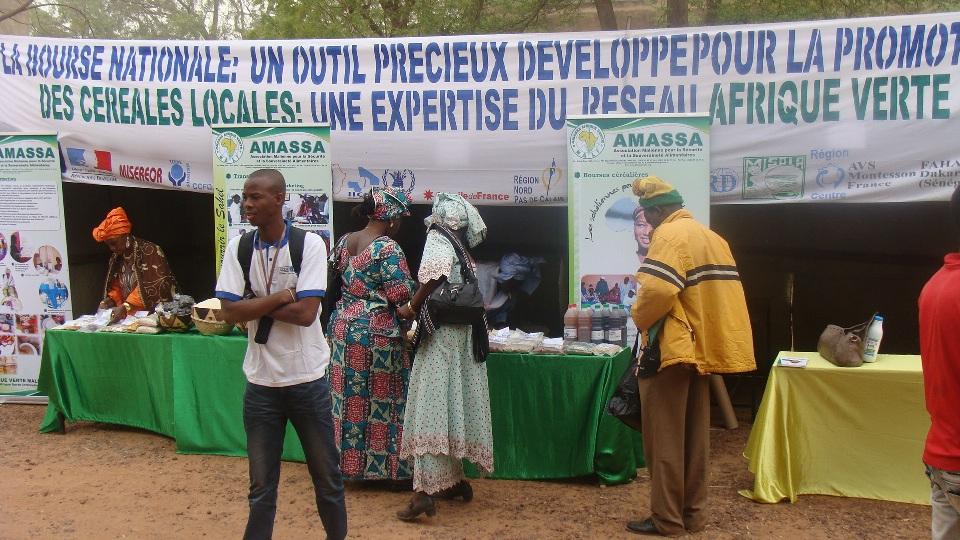 Stand : bourse de Ségou, AMASSA Afrique Verte Mali, mars 2012