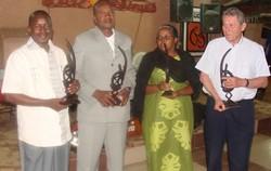 Les 4 présidents à la constitution d'Afrique Verte International