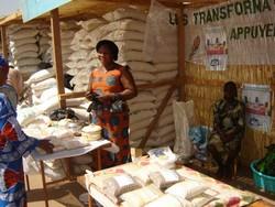 Expo-vente des produits lors de la bourse aux céréales de décembre 2006