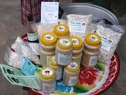 Céréales transformées: une grande diversité de produits (farines enrichies pour la nutrition des enfants, pop-sorgho...)