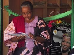 Madame Kaboré à l'inauguration