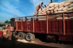 Chargement de camion pour le transport des céréales