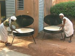 Séchage des céréales dans les fours solaires.
