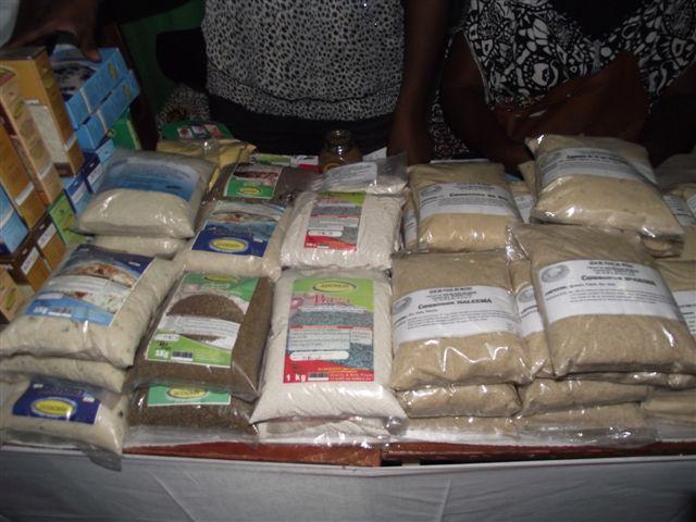 Emballages de céréales transformées au Burkina