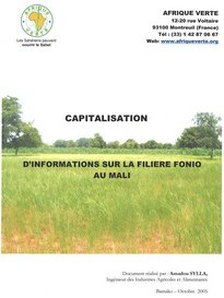 Capitalisation filière fonio au Mali