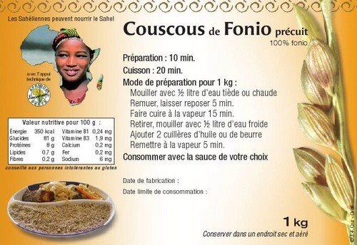 Etiquette couscous de fonio