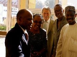 Bourse internationale d'APROSSA : le ministre et les présidents du groupe AVI