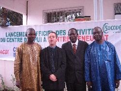 Mohamed Haidara avec les partenaires du CEACJ