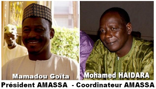 Mamadou Goïta, président Amassa- Mohamed Haïdara, coordinateur Amassa