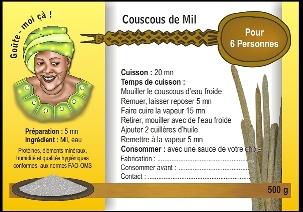 Etiquette de couscous de mil, Niger
